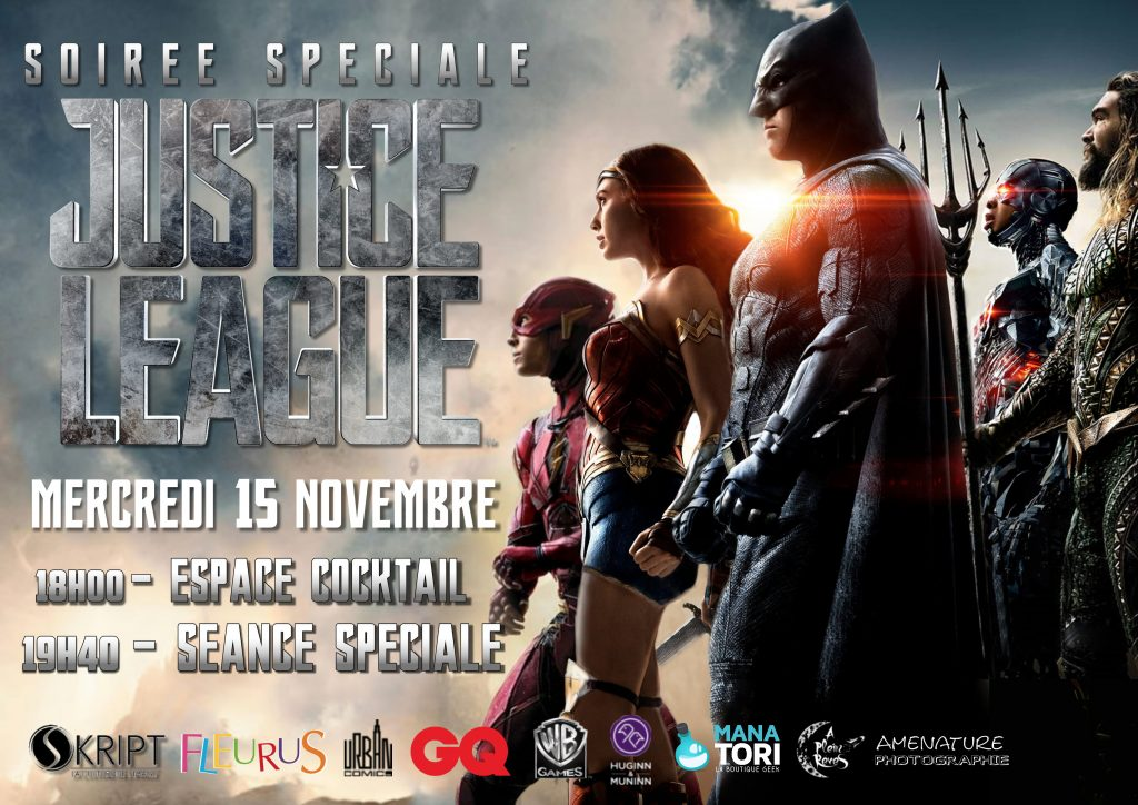 Soirée Justice League Pathe Atlantis
